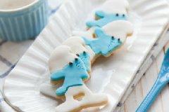 蓝精灵翻糖饼干的做法