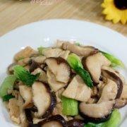 #感恩节#鸡肉香菇油菜的做法