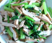 芹菜豆腐干的做法视频