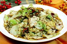 炒洋白菜的做法