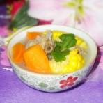 胡萝卜玉米狗肉汤的做法