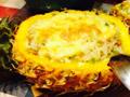马苏里拉奶酪焗五彩菠萝饭的做法