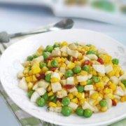 蛋白炒玉米的做法