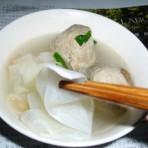 牛肉丸萝卜丝汤的做法