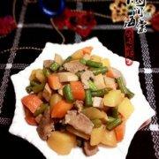 四丁炒肉的做法