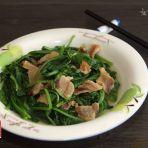 春菜炒猪油渣的做法