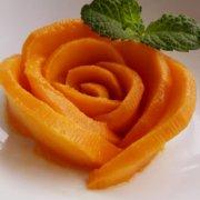 芒果玫瑰花的做法