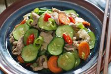 青瓜炒肉的做法