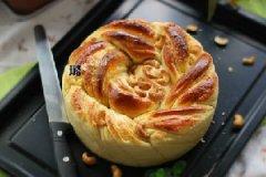 椰蓉玫瑰花朵面包的做法
