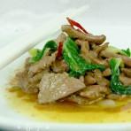 小白菜心炒猪肝