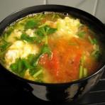 西红柿香菜蛋汤的做法