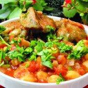 香草烤鸡炖鹰嘴豆的做法
