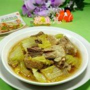 鹅肉炒白菜的做法