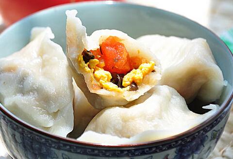 西红柿鸡蛋水饺的做法视频