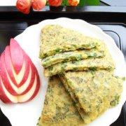 黄米面鸡蛋韭菜饼的做法