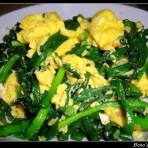 韭菜炒滑蛋