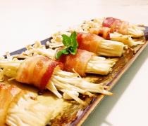 【培根金针菇卷】培根金针菇卷怎么做_如何用烤箱制作培根金针菇卷