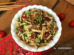 下饭菜芹菜干子炒肉的做法