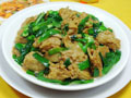 韭菜炒烤麸的做法