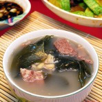 海带眉豆猪扇骨汤的做法