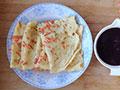 营养早餐:胡萝卜鸡蛋饼+黑米糊的做法