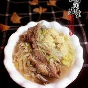 白菜冻豆腐排骨汤的做法
