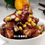 麻辣香蹄炖黄豆