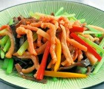 【炒芹菜肉丝】芹菜炒肉丝的做法_芹菜炒肉丝的烹饪技巧