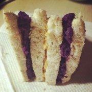 紫薯花生酱三明治的做法