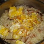 鸡蛋冬菇虾仁面