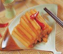【腌白萝卜条的做法】腌白萝卜条的功效_怎样腌白萝卜条好吃