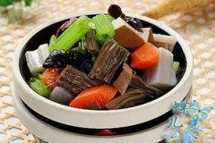 莲藕芹菜拌黑豆腐竹的家常做法