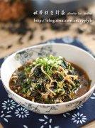 裙带菜拌金针菇