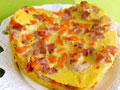 培根胡萝卜鲜虾蛋饼的做法