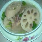 莲藕咸肉汤