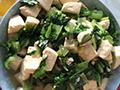 小白菜清炒豆腐的做法