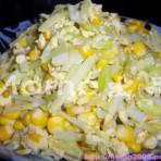 玉米韭黄炒蛋