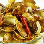 姜葱炒花蛤