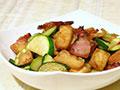 豆干咸肉炒小瓜的做法