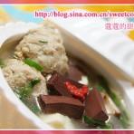 血豆腐肉丸汤的做法