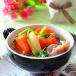 胡萝卜荸荠猪骨汤的做法