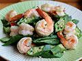 可口美容的炒菜——秋葵炒虾球的做法