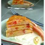 番茄虾仁鸡蛋饼
