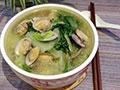小白菜花蛤汤的做法