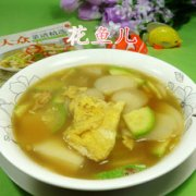 西葫芦鸡蛋年糕汤的做法