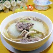 蟹味菇白菜龙骨汤的做法