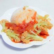 西红柿花菜盖饭的做法
