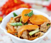 【胡萝卜炒肉】胡萝卜炒肉的做法_胡萝卜炒肉丝