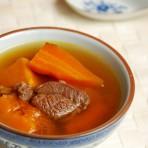 南瓜红萝卜汤的做法