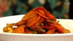 胡萝卜炒肉的做法视频